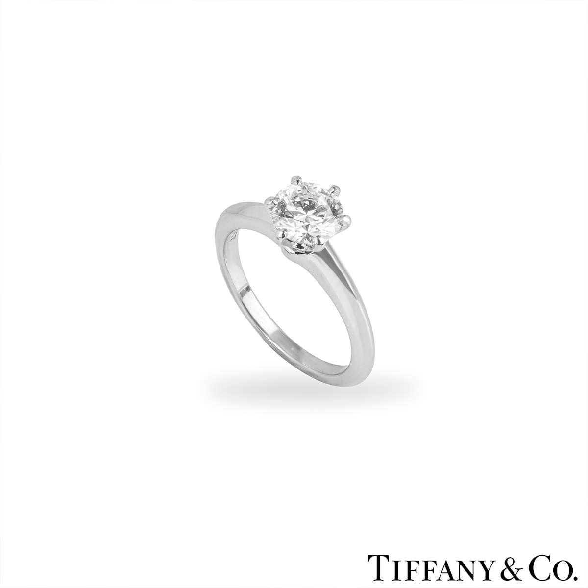 Tiffany & Co. Platinum Diamond Setting Ring 1.16ct I/VVS1 XXX